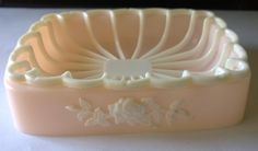 Vintage soap dish set - 1960s - pristine and pink- in original box by TheBusyTipsyGipsy on Etsy