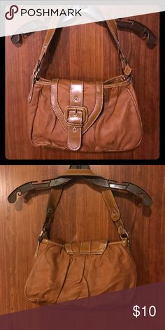 Brown faux leather purse Brown faux leather purse with buckle Sonoma Bags