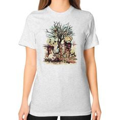 Tales of A Scorched Earth Unisex T-Shirt (on woman)