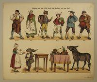 Tischlein decke dich; Esel strecke dich; Knüppel aus dem Sack. Nro. 509. [2. Ausgabe] http://skd-online-collection.skd.museum/en/contents/artexplorer?filter[OBJEKTART]=Bilderbogen
