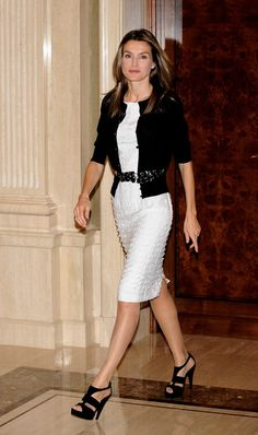 Princess Letizia - Princess Letizia at a Fashion Reception in La Zarzuela Palace