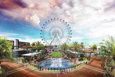 International Drive's growth continues by the day and it's pretty exciting to see here in Orlando! Most recently, The Orlando Eye, a observation wheel, was completed. This new huge visual will be located at … International Drive: The 360 Complex Read Orlando Florida, Orlando Theme Parks, Central Florida, Central Park, Florida 2017, Orlando Vacation, Vacation Travel, Park Shin Hye, Orlando Eye