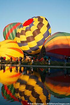 Hot air balloons at the Fountain Hills Great Fair, Fountain Hills, Arizona...
