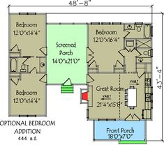 3 Bedroom Dog Trot House Plan - 92318MX | Architectural Designs - House Plans