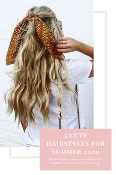 5 cute summer hairstyles for medium length hair: if you're looking for simple hairstyles for summer 2020, then check out these 5 ideas. These hairstyles suit medium length hair, shoulder length hair and would be suitable for long hair too. These easy summer hairstyles aimed at medium length hair would look cute for casual events but also on beautiful summer evenings. #cutesummerhairstyles #2020 #summerhairstylesformediumhair #easyhairstyles #cutesummerhair #simplehairstyles