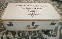 mycreativedays: French Typography Suitcase Table