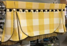 We custom make each window treatment to your specification. Kitchen Window Coverings, Valance Window Treatments, Kitchen Window Treatments, Custom Window Treatments, Cornices, Curtains And Draperies, Home Curtains, Custom Curtains, Fancy Curtains