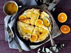 Wow! Ricottával töltött palacsinta narancsszirupban   Street Kitchen Ricotta, Ramen, Eggs, Breakfast, Ethnic Recipes, Kitchen, Food, Morning Coffee, Cooking