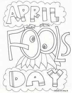 April Fools Day Coloring Sheets