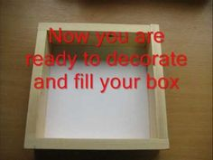 A step by step guide to making your own shadow box. You will need wood, wood glue and some backing board or card. This is a simple method which gives a beaut...