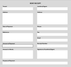 Money Receipt Form  Template
