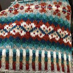 Ravelry: lizoid's winter woolies kal Fair Isle Knitting Patterns, Knitting Charts, Knitting Socks, Hand Knitting, Knitted Hats, Motif Fair Isle, Fair Isle Chart, Fair Isle Pattern, Knitting Projects