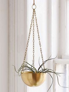 Hanging Metal Planter   Bohemian Room Decor Finds From Urban Outfitters