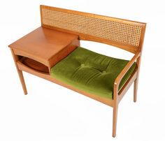 Teak Telephone Bench by Chippy Telephone Seats - Via Use the code MCMF15 to get a 15% discount at Mid-Century Mobler!