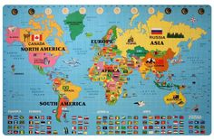 Free Printable World Map For Kids Maps And Gary S