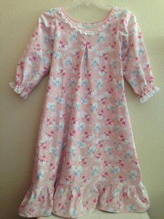 54c649094 Custom Matching Christmas Nightgown Set for Child and American Girl or  Bitty Baby Doll