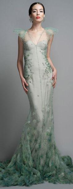 Zac Posen celedon gown