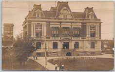 Enid, Oklahoma RPPC Real Photo Postcard GARFIELD COUNTY COURT HOUSE 1909 Cancel