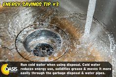 Energy Use, Save Energy, Energy Providers, Energy Saving Tips, Gas Service, Water Pipes, Plumbing, Oasis, Saving Money