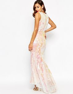 ASOS | ASOS RED CARPET Deep Plunge Sequin Maxi Dress at ASOS