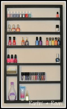 Creative and easy diy nail polish storage ideas 023 Nail Polish Holder, Nail Polish Storage, Diy Nail Polish, Diy Nails, Home Crafts, Diy Crafts, My New Room, Organization Hacks, Getting Organized