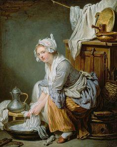 ✿Washing Day✿ Jean-Baptiste Greuze - The Laundress