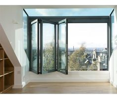 A glass box which feels like a balcony when open