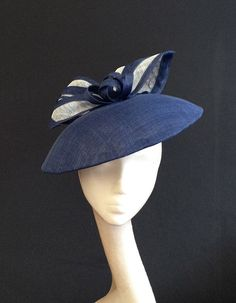 b664dc308da Black   White Dior-esque Saucer - Great hat for a wedding or the Races