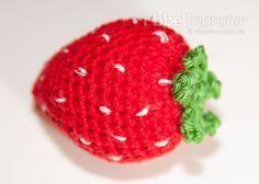 Amigurumi große Erdbeere häkeln Anleitung Häkelanleitung