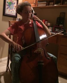 Sadie plays cello