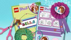 Horse Postcard -  Crafting - Paardenkaart en rozet knutselen - Free Printables - LEGO Friends