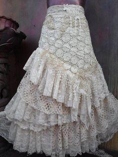 59 New Ideas For Skirt Gypsy Stevie Nicks Bohemian Skirt, Gypsy Skirt, Boho Skirts, Tulle Skirts, Gypsy Style, Boho Gypsy, Skirt Mini, Maong Skirt, Ruffle Skirt