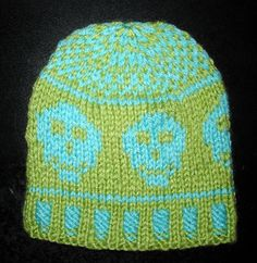Ravelry: Happy Skull Hat for Little Pirate Girls and Boys pattern by Donna Mason-Svara
