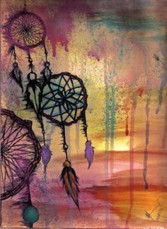 painted dreamcatchers