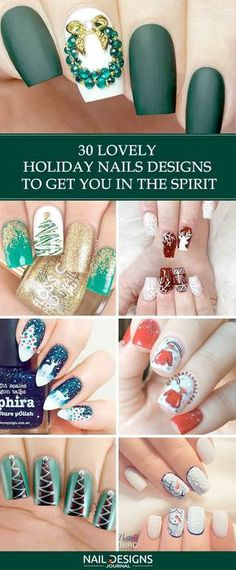 Holiday nails are not to neglect when the season comes. It is so strange how something so small can influence something as great as holiday spirit! #nails #nailart #naildesign #holidaynails