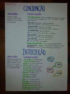 RESUMO: Gramática - Conjunção e Interjeição