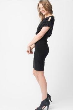 Suzy Shier - Kimono Slit Sleeve Dress