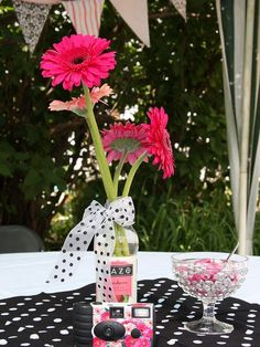 table centerpieces for graduation parties | ... table centerpieces. These colors and those flowers have become her Graduation Open Houses, Graduation 2016, Graduation Celebration, High School Graduation, Graduation Gifts, Graduation Ideas, Graduation Party Centerpieces, Graduation Decorations, Table Centerpieces