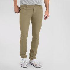 Dickies Men's Slim Fit Skinny Leg 5-Pocket Pant Tan 36X30, British Khaki