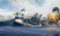 Военная техника-корабли... / живопись, корабли, художник, военная техника