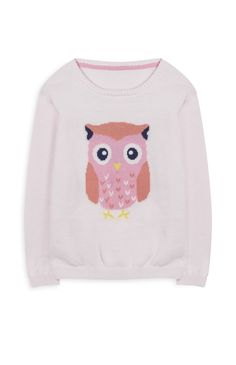 Pink Owl Sweater October 2017