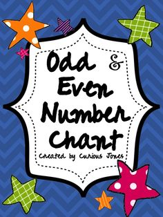 Only $1.00! I used this with mostly first graders, however it is good review for second grade at the beginning of the year. They loved the chant! It also includes two color the odd/even number pages, and a sorts odd and even activity sheet.