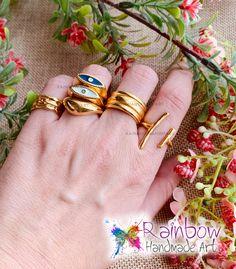 Handmade jewelry and more! Handmade Art, Handmade Jewelry, Gold Rings, Rainbow, Accessories, Rain Bow, Rainbows, Handmade Jewellery, Jewellery Making