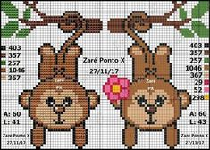quilting like crazy Cute Cross Stitch, Cross Stitch Borders, Cross Stitch Animals, Cross Stitch Charts, Cross Stitching, Cross Stitch Embroidery, Cross Stitch Patterns, Perler Patterns, Loom Patterns