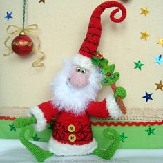 036 Santa Claus Father Frost Father Christmas от LittleOwlsHut, $5.99