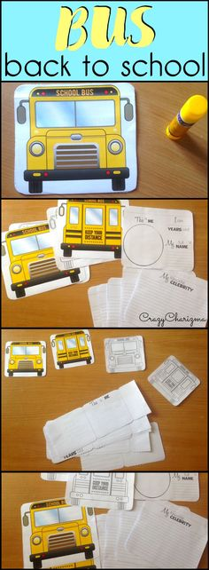 Would you like to have fun during Back To School lessons? Use these interactive BUSes. Kids of primary and elementary school will love to create a SMALL or a BIG BUS and practice writing. | CrazyCharizma @ https://www.teacherspayteachers.com/Store/Crazycharizma