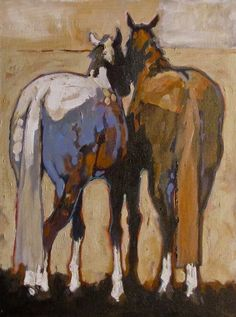 """Buddies"" - Originals - All Artwork - Peggy Judy Horse Artwork, Horse Drawings, Equine Art, Art For Art Sake, Wildlife Art, Western Art, Animal Paintings, Oeuvre D'art, Painting Inspiration"