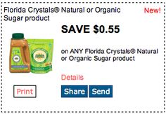 Save $.55 on Florida Crystal Sugar Products. Click for more great deals! #Coupons #Deals #Florida #Sugar #Baking