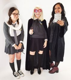 Moaning Myrtle, Luna Lovegood, and Hermione as Bellatrix Lestrange From Harry Potter