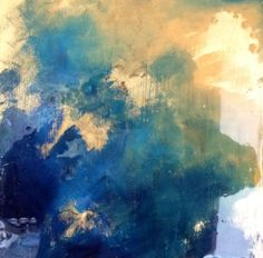 Gemstone. Abstract Painting with Goldleaf & by CallidoraCreative, $150.00